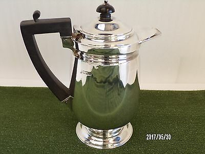 English 1930's Solid Silver Coffee Pot, Silversmiths Hawksworth 1928