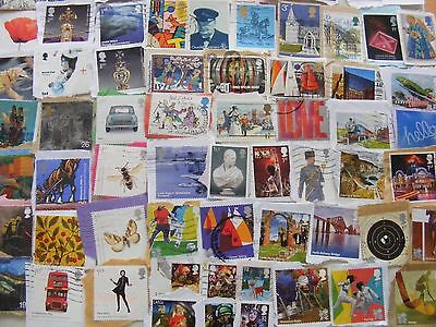 118g GB commemorative stamps : ALL DIFFERENT : massive variety : est. 450 stamps