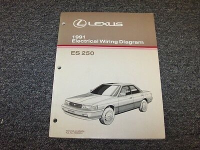1991 lexus ls400 ls 400 factory original electrical wiring diagram 1991 lexus es250 sedan factory original electrical wiring diagram manual 25l v6 asfbconference2016 Choice Image