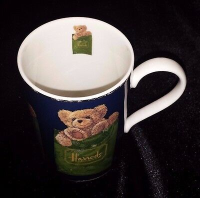 Harrods Teddy Bear Mug Fine Stoneware Knightsbridge London Scotland
