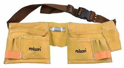 10 Pocket Rolson Leather Tool Belt Pouch Toolbelt Buckle