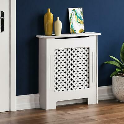 OXFORD RADIATOR COVER Small White MDF Traditional Grill Guard Cover Shelf