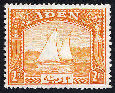 KGVI British Commonwealth - ADEN 1937 Dhows, 2R Yellow, Mint