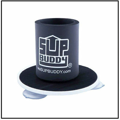 SUPBUDDY PADDLE BOARD DRINK HOLDER, SUP Accessory, Suction Attached, Black *New*