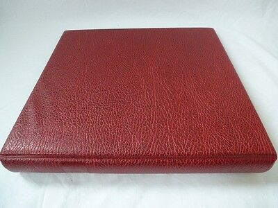 Luxury Large Capacity 12 Ring Album & Hingeless Leaves, Very Good Condition