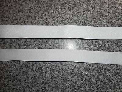 10m White by 20mm  Self Adhesive Sticky Backed Hook & Loop tape.