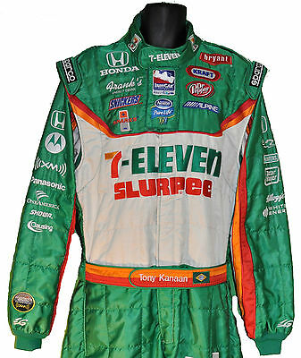 Tony Kanaan Irl Slurpee 711 Indy Crew Used Suit With Tony's Name On Belt Not F1