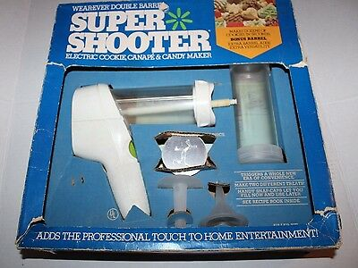 Wear Ever Super Shooter Electric Cookie Canape Candy Maker Vtg Blue Box 70001B