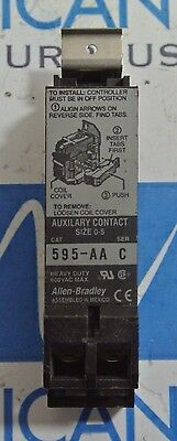 Allen Bradley 595-AA Series C Auxiliary Contact Size 0-5