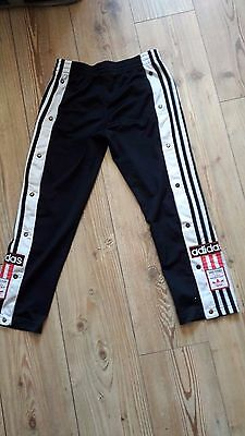 Retro Vintage Original Adidas Poppers D140  Tracksuit Trousers/Bottoms 80s/90s