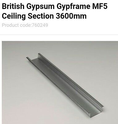 mf5 metal furring suspended ceiling section 3.6m lengths x18