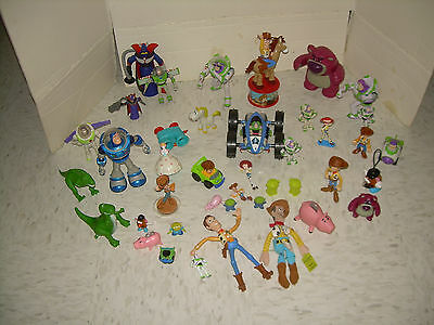 41 pc Lot of Toy Story Toys some from 1st movie Zurg Buzz Woody Hamm Jessie More