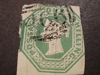 used Great Britain Queen Victoria #5 stamp-silk threads -sh Canada is 1.50