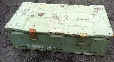 US Military Issue 81MM Cannon M821 Empty Metal Ammunition Ammo Can Crate Box