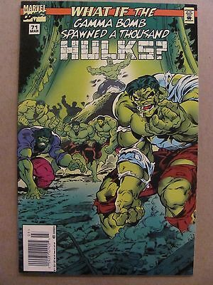 What if #71 Marvel 1989 Series The Gamma Bomb Spawned Thousands of Hulks 9.2NM-