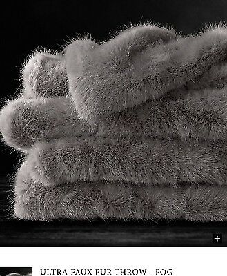 Faux Fur Throw From Restoration Hardware - Fog