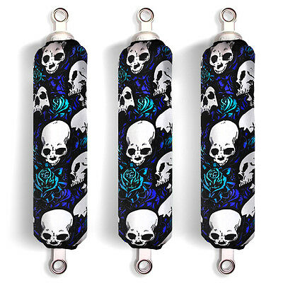 Blue Skull Shock Covers Yamaha Wolverine 350 450 Big Bear 250 350 400 (Set of 3)