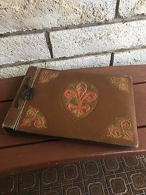 Antique Vintage Photo Album - Brown 58 pages