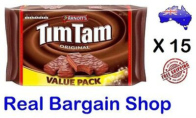15 x Arnotts Tim Tam Original Chocolate Biscuits Value Pack 330g