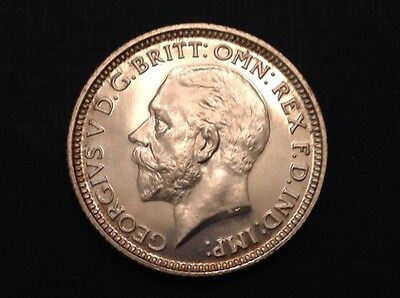 - 1927 Great Britain Sixpence Brilliant Mirror Proof George V - 15,000 Minted
