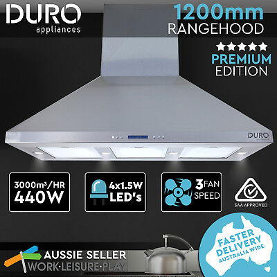 New Commercial 1200MM Canopy Range Hood Alfresco Twin Motor BBQ Rangehood Kitche