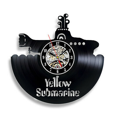 The Beatles Rock Band Yellow Submarine_Exclusive wall clock made of vinyl 237