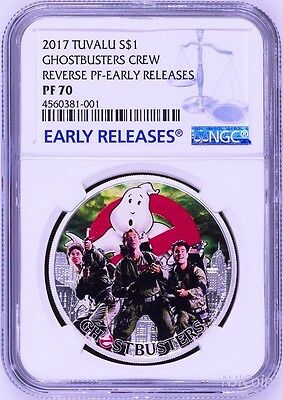 2017 Ghostbusters Crew 1oz Silver $1 Proof Coin NGC PF70 Early Releases