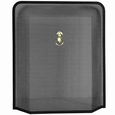 MELTON FIRE GUARD Black Brass Fireplace Cover Protector Freestanding Accessory