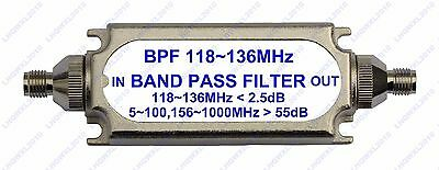 band pass filter BPF 118-136MHz SMA connector for Air band