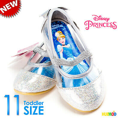 Disney Toddler Girls Princess Cinderella Ballet Flats Sparkling Shoe Size 11 NEW