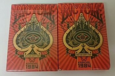 2x Sealed Bicycle 1984 KARNIVAL - Decks Of Playing Cards - new