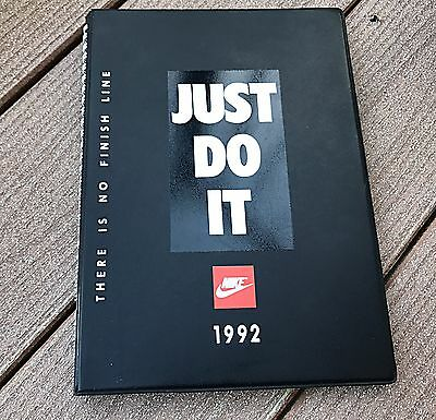 Vintage Nike Notebook*Rare 1992 Just Do It *World Campus Notebook Corporate