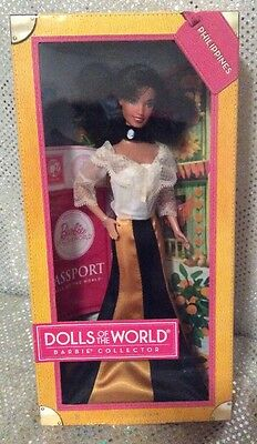 Philippines Dolls Of The World Barbie Doll Model Muse X8423 2012 Wrong Head Nrfb