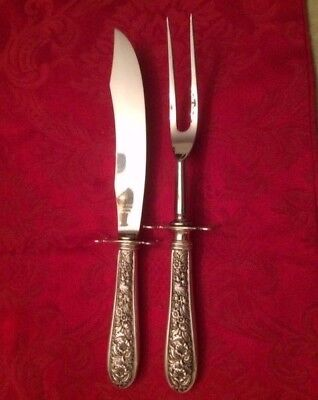 Stieff Sterling Silver Corsage 2-Piece Carving Set - EXCELLENT CONDITION!