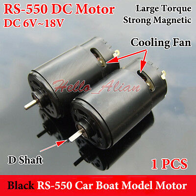 DC6V-18V 12V High Speed Large Torque Strong Magnetic RS-550 Motor Car Boat Model
