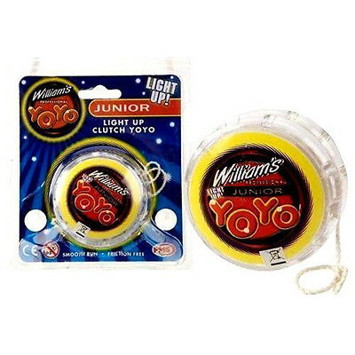 "2.25"" WILLIAM'S YOYO LIGHT UP CLUTCH TRICKS KIDS TOY Children Party Bag Fillers"