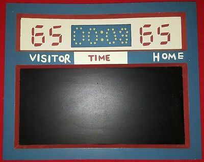 """Vintage  Style Football Basketball Scoreboard Chalk Sign """"visitor, Time & Home"""""""