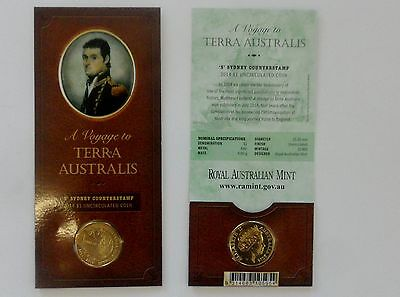 "2014 A voyage to Terra Australis, ""S"" Sydney Counterstamp, $1 Unc Coin"