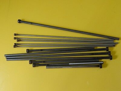 "Lot Of 13 Ejector Pins Assorted Sizes From 10 1/4"" To 5 1/16"" In Length"
