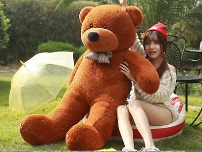 Huge Giant Plush Brown Teddy Bear Big Stuffed Animal Soft Cotton Toy Gift 200CM