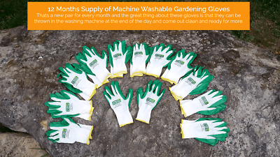 A ONE YEAR SUPPLY OF  - Machine washable GARDENING GLOVES