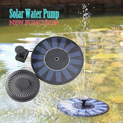 Upgrade Solar Powered Panel Water Pump Pool Pond Aquarium Fountain Spray Feature