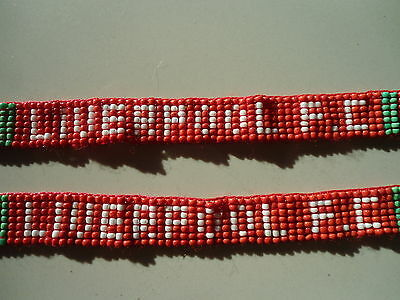 Pair of Beaded Football Friendship wristbands Liverpool FC