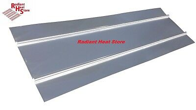 "(30) 16"" Wide Aluminum Omega Radiant Heat Transfer Plates Wall / Ceiling 4ft"