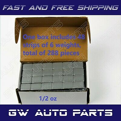 1 Box 1/2 oz Wheel Weights Stick-on Adhesive Tape 9 LBS 288Pcs Lead Free