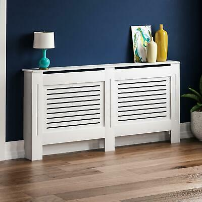 MILTON RADIATOR COVER Extra Large White MDF Modern Grill Guard Cover Shelf