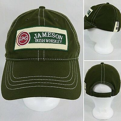 JAMESON Irish Whiskey Men's Green Adjustable Strap Baseball Cap Hat Cotton EUC