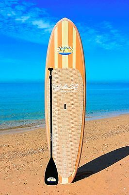 """10'6"""" RIDE THE TIDE SUP WOODY MAHALO Stand Up Paddle Board + ADJUSTABLE Paddle"""