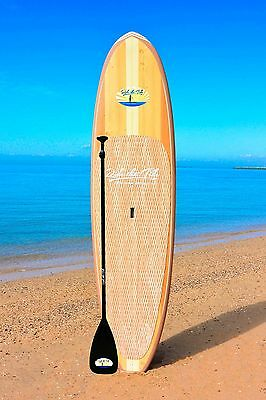 10' RIDE THE TIDE SUP WOODY SUNBORA Stand Up Paddle Board + ADJUSTABLE Paddle