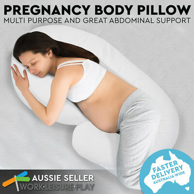 Maternity Pillow Pregnancy Nursing Side Sleeping Body Support Feeding Boyfriend